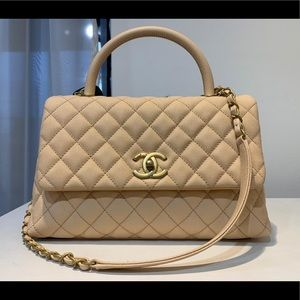 Chanel Flap Caviar Bag with top handle